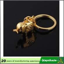 2016 New Product Gold Color Elephant Shape Keychain