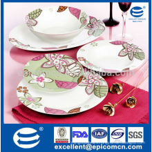 Eu market Chinese factory wholesale ceramic plate, cheap white porcelain plate,plates serving dishes