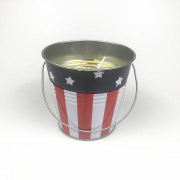 Nieuwe Citronella Metal Bucket Candle Insects Repellant