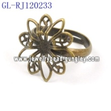 22mm copper jewelry findings ring bases