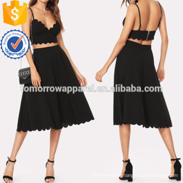 Scallop Trim Bra Top And Skirt Manufacture Wholesale Fashion Women Apparel (TA4036SS)