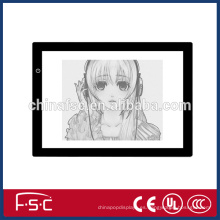 Ultra delgada led tablero de dibujo de diseño de animación de profesión / ligtht calco tablero LED