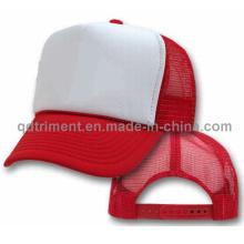 Chapeau de camion en mousse polyester en éponge populaire (T-Red Cap)