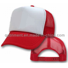 Popular Sponge Polyester Mesh Trucker Hat (T-Red Cap)