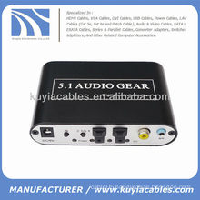 5.1 Channel AC-3/DTS Digital Audio Converter Stereo Sound Audio Decoder