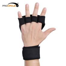 Luvas antiderrapantes do Gym do treinamento da aptidão com apoio de pulso