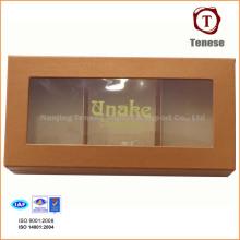 Caixa de chocolate com janela de PVC com divisor