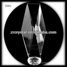 Premio de cristal en blanco de diseño atractivo X084