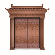 Copper design door made in china picture frame copper door