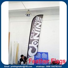 Pubblicità esterna Feather Flags Custom Double Sided