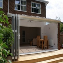 Aluminum Double Glazed Bifold Exterior French Doors