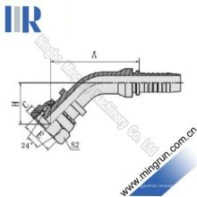 45-Grad-Winkel-metrisches Innengewinde-hydraulische Schlauchverbindung (20441)