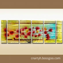 Decorative Metal Wall Art Flowers for Hotel