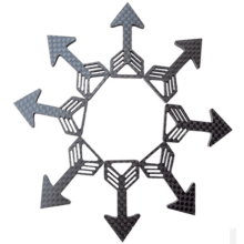 Удочка для резки листа углеродного волокна