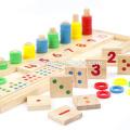Würfel-Puzzlespiel 3d des heißen Verkaufsholzblockwürfels Domino