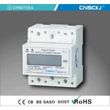 Medidor elétrico digital de CC de carril DIN com display LCD