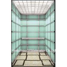 1000kg agradable decoración pasajeros ascensor residencial ascensor