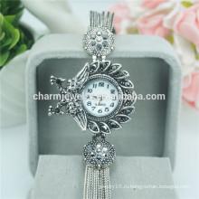 Красивые старинные кварцевые наручные часы с наручным металлическим кольцом для женщин B034