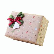 Caja de empaquetado delicada del regalo de encargo con el arco de seda