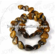 Heart Shaped tigereye stone beads