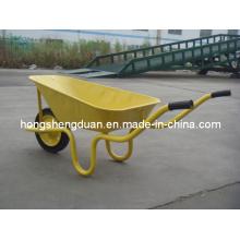 La brouette jaune de vente chaude a la capacité 60L