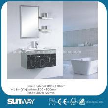 Cabinet de salle de bains moderne en acier inoxydable à miroir miroir