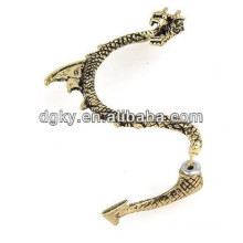 Factory Cheap Bronze Vintage Dragon Ear Clip Earring Cuff