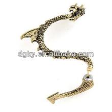 Фабрика дешевые бронзовые Vintage Dragon Ear клип серьги серьги