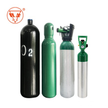 Empty steel portable oxygen10L gas cylinder for medical