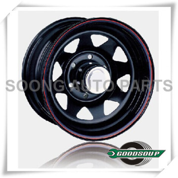 "Spoke-Non Beadlock Wheels GS-40101 Steel Wheel from 15"" to 17"" with different PCD, Offset and Vent hole"