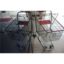 Amerika-Art-Supermarkt-Einkaufslaufkatzen-Warenkorb
