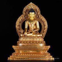 Bronze Gießerei Metall Handwerk Nepal handgefertigte Buddha-Statue