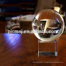 Boule de cristal de 150 mm avec des bulles pour le fengshui