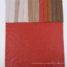 Weft textiles spandex foil single face garment flocking bronzing faux suede fabric garments