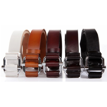 Simple non-porous belt double buckle belt