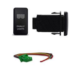 Interruptor duplo do botão das luzes do diodo emissor de luz do interruptor da tecla de Toyota 12V-24V