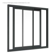 Diseño de ventana de vidrio de marco de aluminio para edificio comercial (FT-W132)