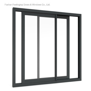 Aluminium Frame Glass Window Design for Commercial Building (FT-W132)