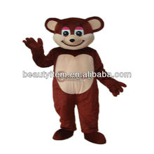 best selling cartoon Character Brown Christmas Bear Mascot Adult Costume