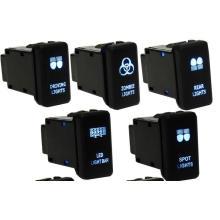 12V Car Auto 4 Wiring Blue LED Light Bar Switch on/off for Toyota/Landcruiser/Hilux/Prado