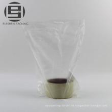 Bolsas transparentes de fondo plano para verduras y frutas