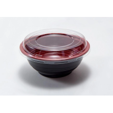 Plastic tray bowl with transparent lid