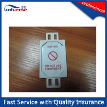 ABS Minitype Etiqueta de advertencia Hecho en China