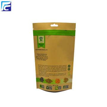 Kraft Paper Bag With Window Snack Food Packaging
