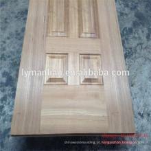 A porta de madeira do projeto da porta principal desossa a pele natural da porta da noz dos logs