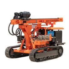 Máquina barrena de tierra con broca