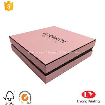 Design de impressão de caixa de cosméticos moda com tampa