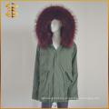 Новый стиль Custom Cheap Designs Long Trench Fox Fur Coat Parka