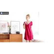 Silk Pajamas Women's Summer Sexy Short Sleeve Sleeping Skirt Women's Summer Home Wear