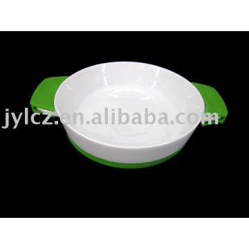 Ustensiles de cuisson ronds avec poignée et base en silicone